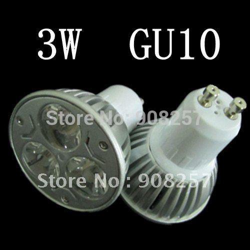 free shipping 5PCS 3W GU10 LED Lamp warm/cool White Bulb High Power Spotlight 85-265V(China (Mainland))
