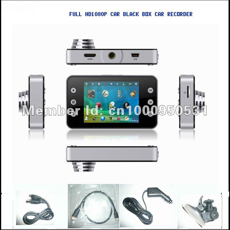 Vehicle event data recorder ,HD1080P car black box supply(China (Mainland))