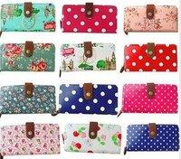 2012 Brand England retro style Wallet/Purse,ladies' wallet flower start Polka Dot  London Big Ben colorful 10/lot 20color