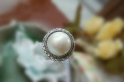 retro Full drill pearl Bohemian ring(China (Mainland))
