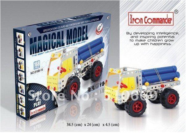 C NEW 3D alloy puzzle 3D Alloy truck model Metal screw DIY block construction set best gift for children. DIY toy set(China (Mainland))