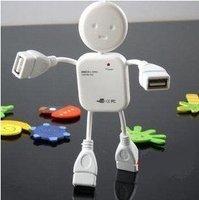 free shipping ! HI-SPEED USB 1.1 4 port USB HUB Doll shape usb hub # hm137