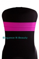 Free shipping / Top  quality  Fushia  lycra spandex chair band