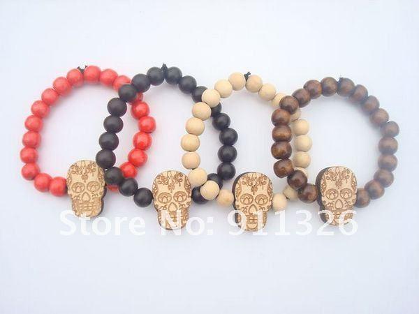 product Skeleton head bracelet hip-hop HIP HOP GOODWOOD woodiness bracelet adorn article
