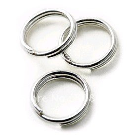 Ship Free ! 200grams/lot  5mm White nickel color Double Loops Open Jump Rings