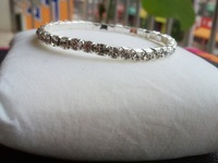 white Row Rhinestone Stretch Bangle Bracelet Wedding Party Bridal Jewelry free shipping