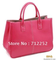 Free Shipping 13 Colors 2012 Fashion Women PU Leather Bag Handbags Lady PU Leather Shoulder Bag Elegant Tote Bags120529#01