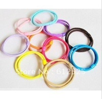 Free shipping (60 pieces/lot) Candy colors circle TouSheng rubber band hair hair rope han edition