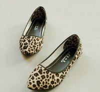 2015 NEW Leopard Women flat shoes for Lady flats & Beige,Brown