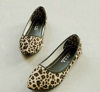 2015 NEW Leopard Women flat shoes for Lady flats & Beige,Brown
