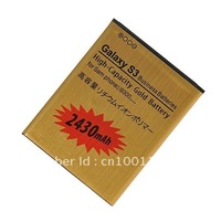 GOLD 2430MAH HIGH CAPACITY REPLACEMENT BATTERY FOR SAMSUNG galaxy s 3 S III i9300 FREE SHIPPING