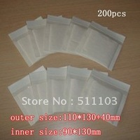 white  Kraft Bubble Mailers Padded Envelopes Bags 110*130+40mm 200pcs/lot free shipping