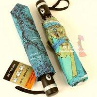 Japan's three map umbrella seventy percent off automatic umbrella super creative personality folding umbrella