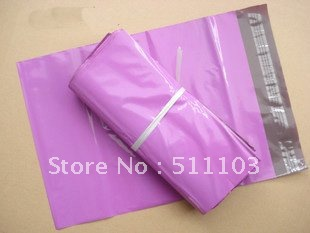free shipping 100pcs 28cmx(37+5)cm  thickness:0.13mm red plastic express mail posting bag