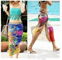 50pcs hottest sale Fashion Bikini Summer Beach Wrap Swimwear CoverUp Sarong Scarf Pareo