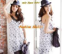 Hot sale Fashion womens' sexy leopard style color blockevening dresses / ladies long sleeve lace dress ladies slim dresses