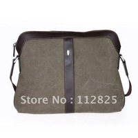 Free Shipping /Fashion/  Hottest Canvas  Brifecase/Message Bag Match Leather -PHY0003