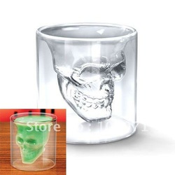 Cool Crystal Skull Head Vodka Shot Wine Glass Drinking Ware Home Bar 2.5 Ounces [12563|01|01](China (Mainland))
