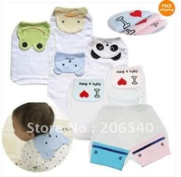 Cute Cartoon Style Baby Sweat Absorb Cloth Back Towel