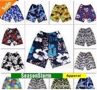 [EMS Free Shipping] Wholesale Mens Leisure Print Beach Shorts / Sport Pants Mixed Style (SU-65F)