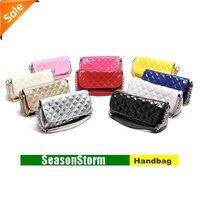 [EMS Free Shipping] Wholesale Fashion Elegant Diamond Case Barrels Chain Handbag / PU Portable Inclined Bag (SG-69E)