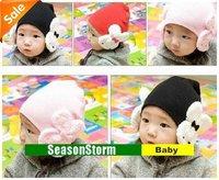 [EMS Free Shipping] Wholesale Infant Cute Rabbit Cap / Multi-Color Baby Cotton Hat 5 Color (SY-15E)