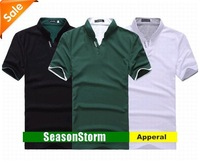 [EMS Free Shipping] Wholesale Mens Cotton Fashion Slim Summer Leisure T-shirt Short Sleeve Polo Shirt (SU-67E)