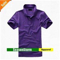 [EMS Free Shipping] Wholesale Fashion Solid-Color Mens Polo Shirts / Cotton Short Sleeve T-shirt (SU-10E)
