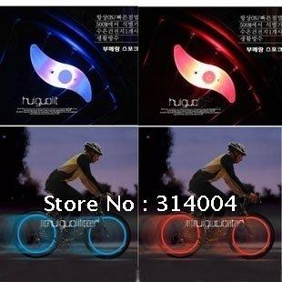 EMS Free Shipping Wholesale 100pcs/lot Silicone spokes Wheel Lights Bike Wheels LED light Valve Cap Light for Motor Bicycle