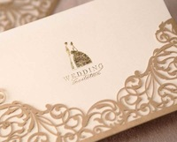Top rated 100pcs/lot 17.1cm*11.7cm pearl shimmer paper  invitation card design