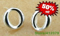 mini order 10USD free shipping wholesale jewelry 925 sterling silver round European style Bride earring fashion jewelry