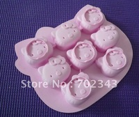 Free Shipping Hello Kitty Freeze 1PC Ice Cube Tray Mold Maker Silicone Random Colour