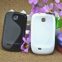 Free DHL Galaxy Mini Skin Case S5570 S Line Cover S5380 TPU Protect Shell Soft Colors Shipment Soon 100pcs/Lots