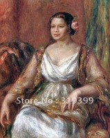 Free fast Shipping,100%handmade,Oil Painting Reproduction,tilla durieux By Renoir oil painting on linen canvas