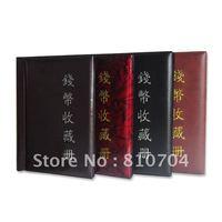 60pcs coin album/coin collection book /cion stock book/coin holder with paper clip retail Free Shipping