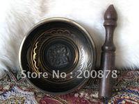 TBC933  Super healing Tibetan brass singing bowl,Tibet mantras Prayer Bowl,Black,5'',no MOQ