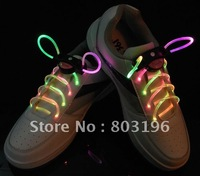 Freeshipping 200PCS/Lot Hot sale LED LIGHT UP SHOELACES LED FLASHING DISCO FLASH LITE GLOW STICK Shoelaces 15 Colors for Choice