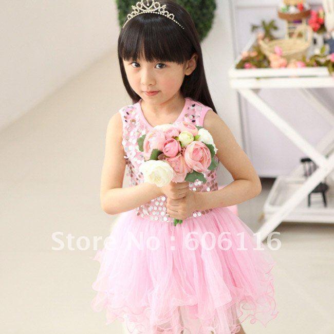 فساتين زفاف للبنوتات Wholesale-2012-New-Hot-sale-Fashion-girl-s-one-piece-dresses-Sleeveless-children-clothing-Pink-wedding