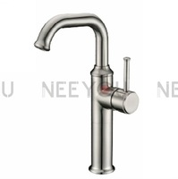 Brushed Nickel Kitchen faucet Brass material Water Basin sink mixer tap 04914 Free shipping Wholesale