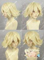 HOT! Urahara Kisuke Short Light Blonde Cosplay Wigs W23