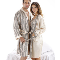 LZ  free shipping man or woman bath robe dress sets lovers sleepwears twinset long-sleeve sexy nightgown lovers sleep set