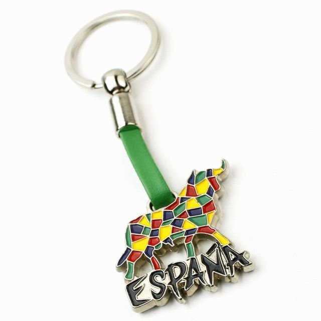 Free Shipping Espana Fighting Bull Keychain Bullfightz Keyring(China (Mainland))