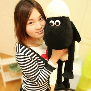 Candice guo! Hot sale very cute NICI sheep creative plush toy stuffed toy doll Shaun the sheep 70cm good for gift 1pc