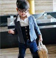 Wholesale 5pcs/lot, Girls jeans, girls overalls, Children's pants, summer pants, 5 Sizes
