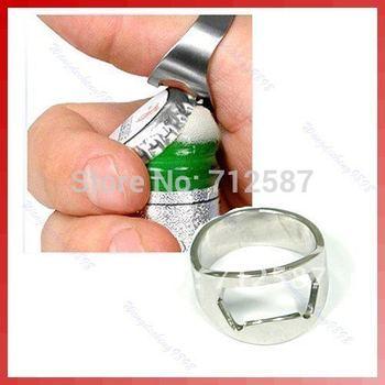 Finger Ring Bottle Opener Bar Beer tool/Stainless Steel bottle opener Free Shipping#8645