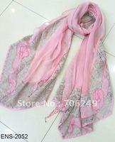 FREE SHIPPING,2012 new design silk scarf,patchwork silk shawl,silk ladies scarf,fashion muslim hijab,size is 60*180cm