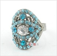 Free shipping!Fashionable restore ancient ways han edition crystal ring