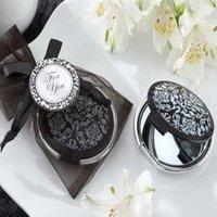 NEW ARRIVAL+Wedding Favors Reflections Elegant Black-and-White Pocket Mirror+100pcs /lot+FREE SHIPPING(RWF-0035U)