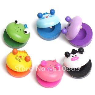 Animal Castanets Colorful Building blocks For kids Toddlers and Baby's  Musical Instrument toys