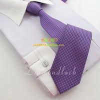 Hot-selling south korean silk 7cm solid color check tie